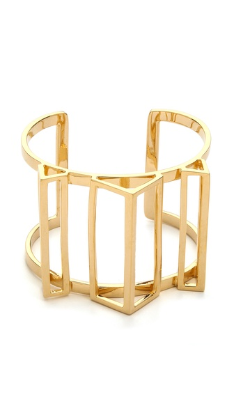 Paige Novick Claire Collection 3D Geometric Open Cuff Bracelet