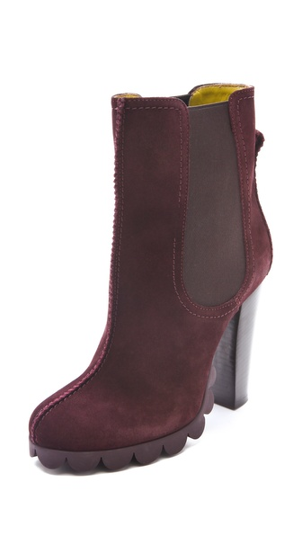 Pollini Scalloped Booties