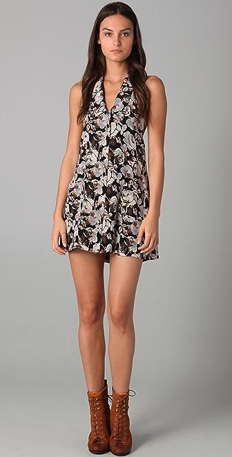 Porter Grey Halter Floral Dress