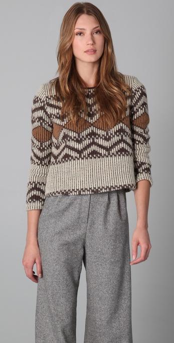 Porter Grey Cropped Adirondack Sweater