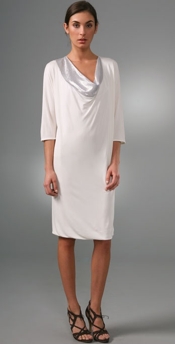 Ports 1961 Cowl Neck Sheath Dress