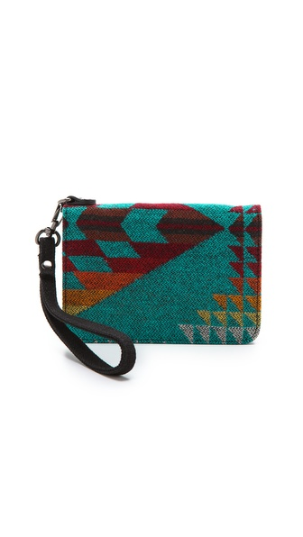 Pendleton, The Portland Collection Mini Cell Phone Wallet - Turquoise Mini Basket Maker at Shopbop / East Dane
