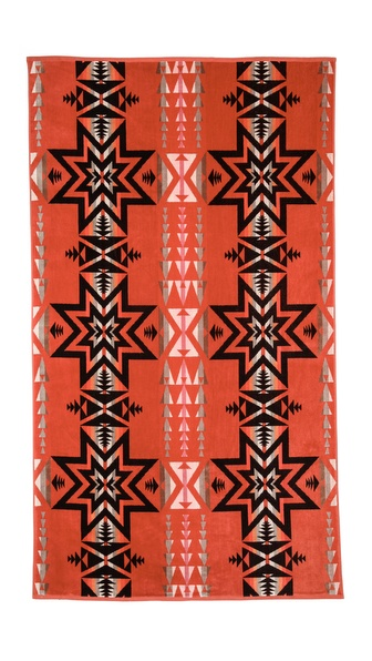 Pendleton, The Portland Collection Plains Star Oversized Jacquard Towel
