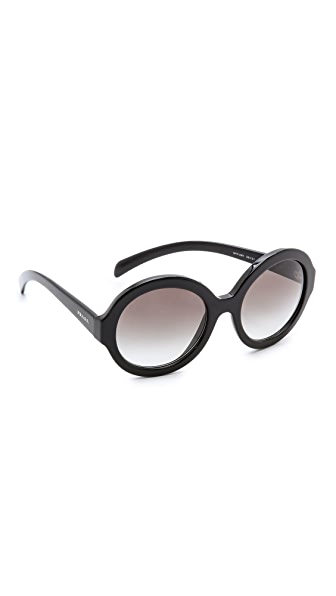 Prada Prada Rounded Sunglasses (Multicolor)