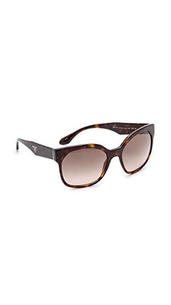 Prada Prada Square Sunglasses (Black)