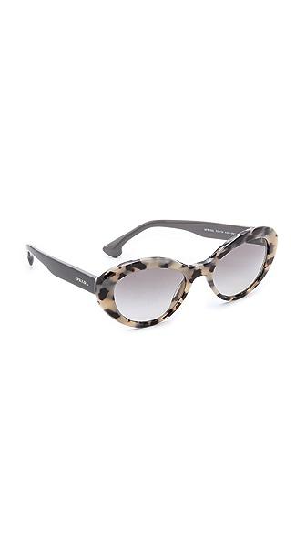 Prada Prada Oval Cat Sunglasses (White)