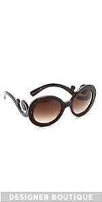 Prada Prada Round Sunglasses (Multicolor)