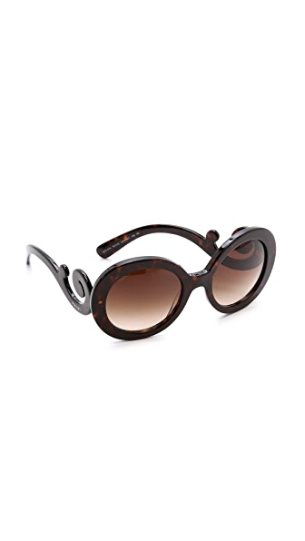 Prada Prada Round Sunglasses (Brown)