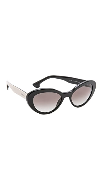 Prada Prada Oval Sunglasses (Multicolor)