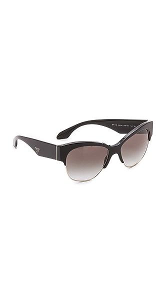 Prada Prada Top Frame Sunglasses (Multicolor)