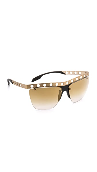 Prada Prada Perforated Frame Sunglasses (Yellow)