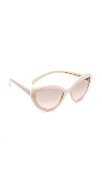 Prada Prada Cat Eye Sunglasses (Multicolor)