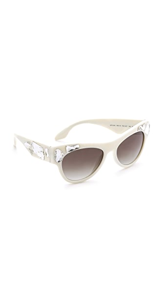 Prada Prada Crystal Encrusted Sunglasses (Multicolor)