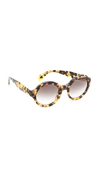 Prada Prada Round Sunglasses (Brown)