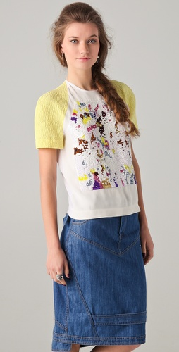 Preen Sequined Honey Top