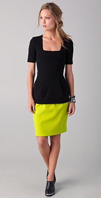 Preen By Thornton Bregazzi Blaze Dress with Citrus Skirt