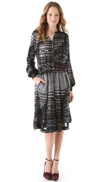 Preen Line Print Tie Waist Dress