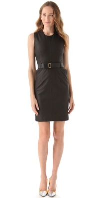Preen Line Quilted Leather Dress
