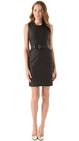 Preen By Thornton Bregazzi Line Quilted Leather Dress
