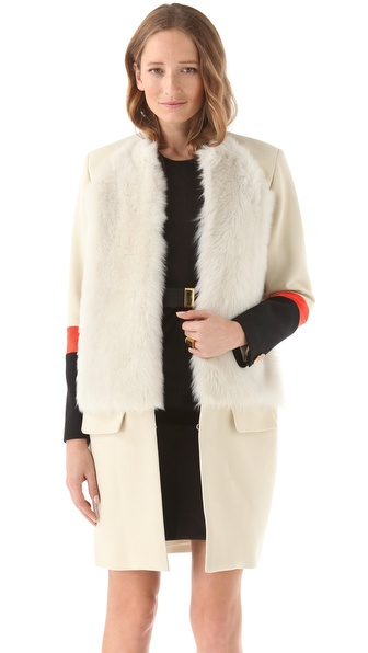 Preen Zora Coat with Fur
