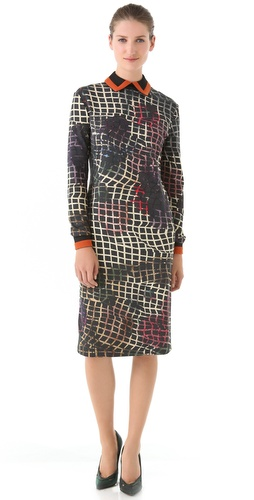 Preen Collared Jersey Dress