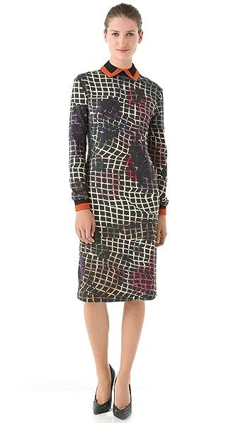 Preen By Thornton Bregazzi Collared Jersey Dress