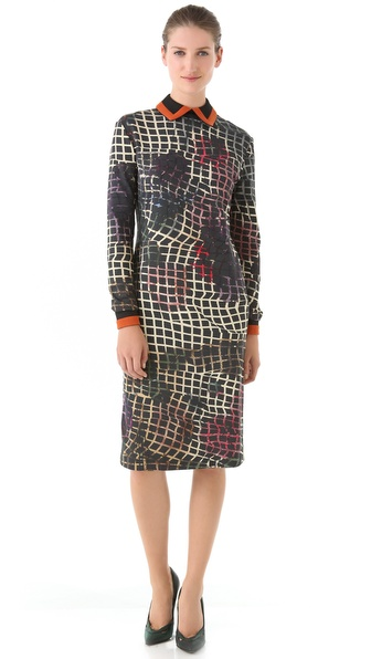 Preen By Thornton Bregazzi Collared Jersey Dress