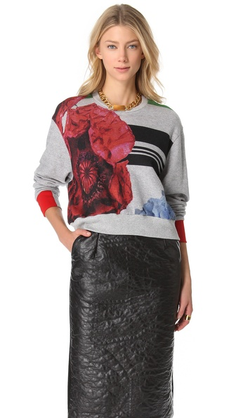 Preen Cropped Terry Sweatshirt