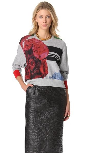 Preen By Thornton Bregazzi Cropped Terry Sweatshirt