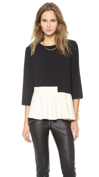 Preen By Thornton Bregazzi Dillon Peplum Top