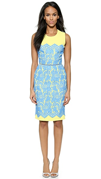 Shop Preen By Thornton Bregazzi online and buy Preen By Thornton Bregazzi Lou Sleeveless Dress Blue dress online