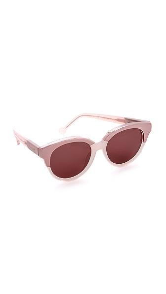 Preen By Thornton Bregazzi Bristol Sunglasses - Milky Pink/Brown Mono