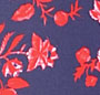 Navy/Red Toile