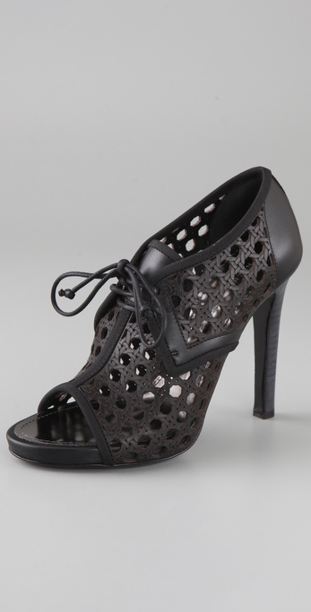 Proenza Schouler Basket Weave Open Toe Pumps