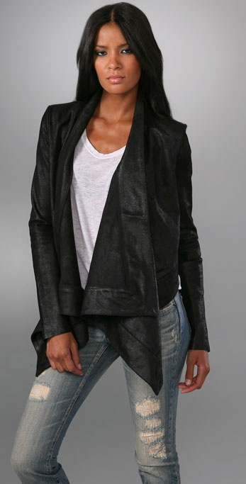 PRPS Japan Leather Cape Jacket