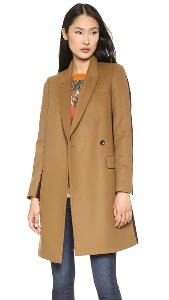 Paul Smith Black Label Colorblock Felt Coat