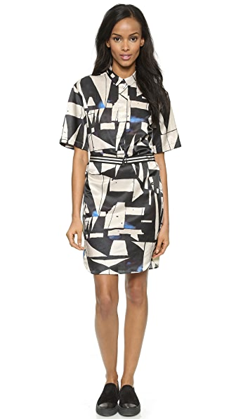 Black Label Black Label Print Dress (Blue)