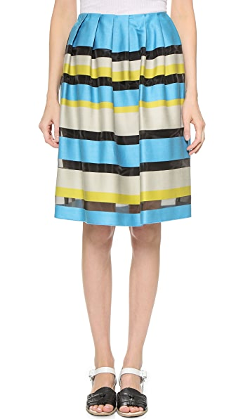 Paul Smith Black Label Striped Skirt - Teal