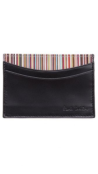 Paul Smith Multi Credit Card Case with Multistripe Interior