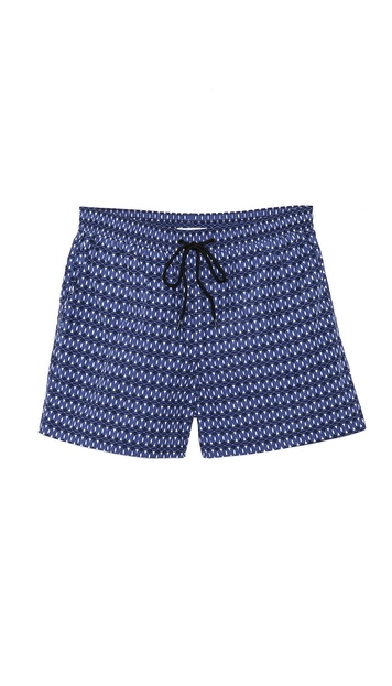 Paul Smith Circle Print Swim Trunks