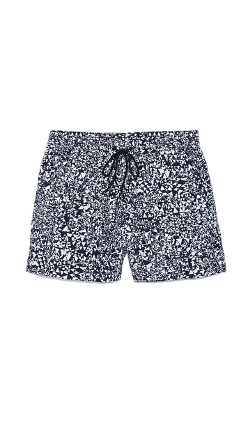 Paul Smith Geometric Print Swim Trunks