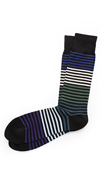 Paul Smith Solid Stripe Socks