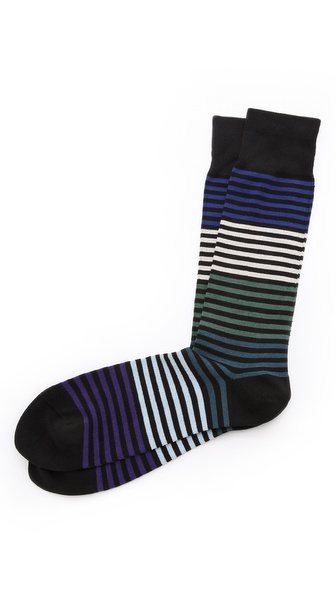 Paul Smith Solid Stripe Socks