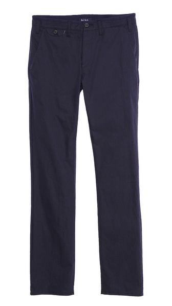 Paul Smith Jeans Slim Fit Micro Check Trousers - Navy