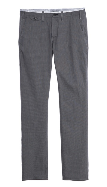 Paul Smith Jeans Slim Fit Micro Check Trousers - Grey Print