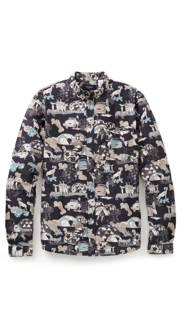 Paul Smith Jeans Tailored Novel Print Shirt