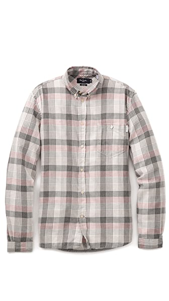 Paul Smith Jeans Tailored Plaid Shirt