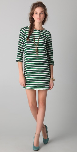 Peter Som Hand Painted Stripe Dress