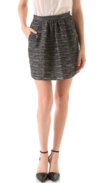 Peter Som Tweed Miniskirt