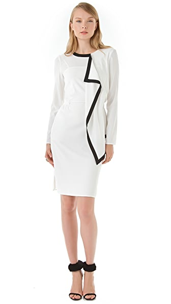 Peter Som Piped Ruffle Dress